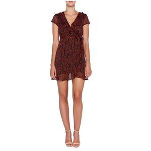 NWOT Bardot Cherry Print Faux Wrap Dress